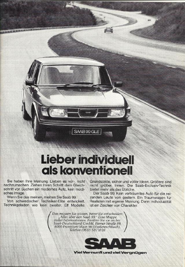 Saab Werbung